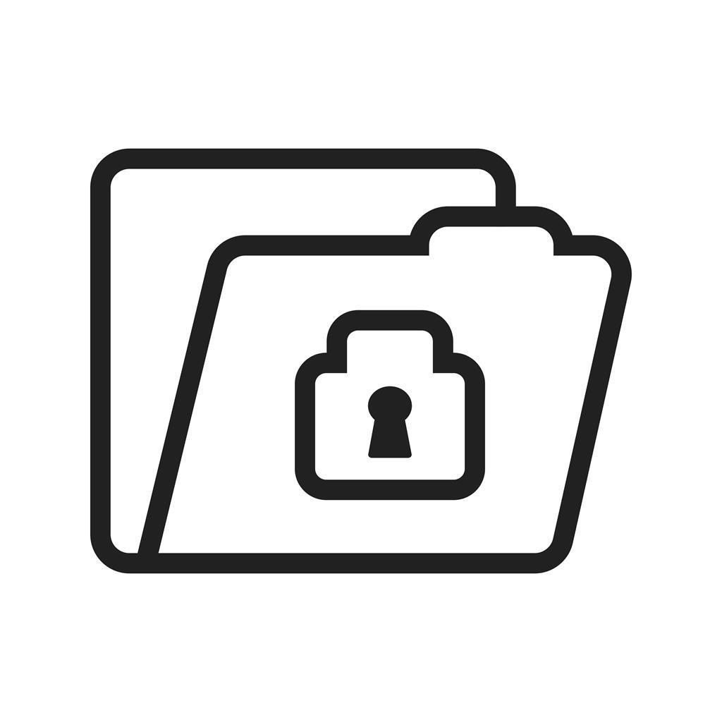 confidential line icon