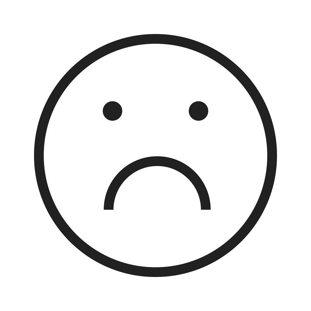 sad line icon