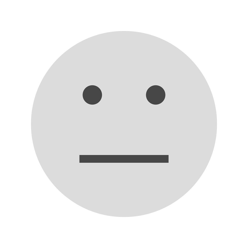 Straight Face Greyscale Icon Iconbunny