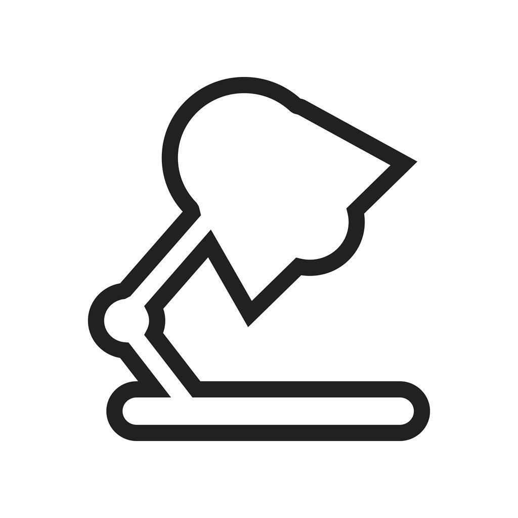 lamp line icon