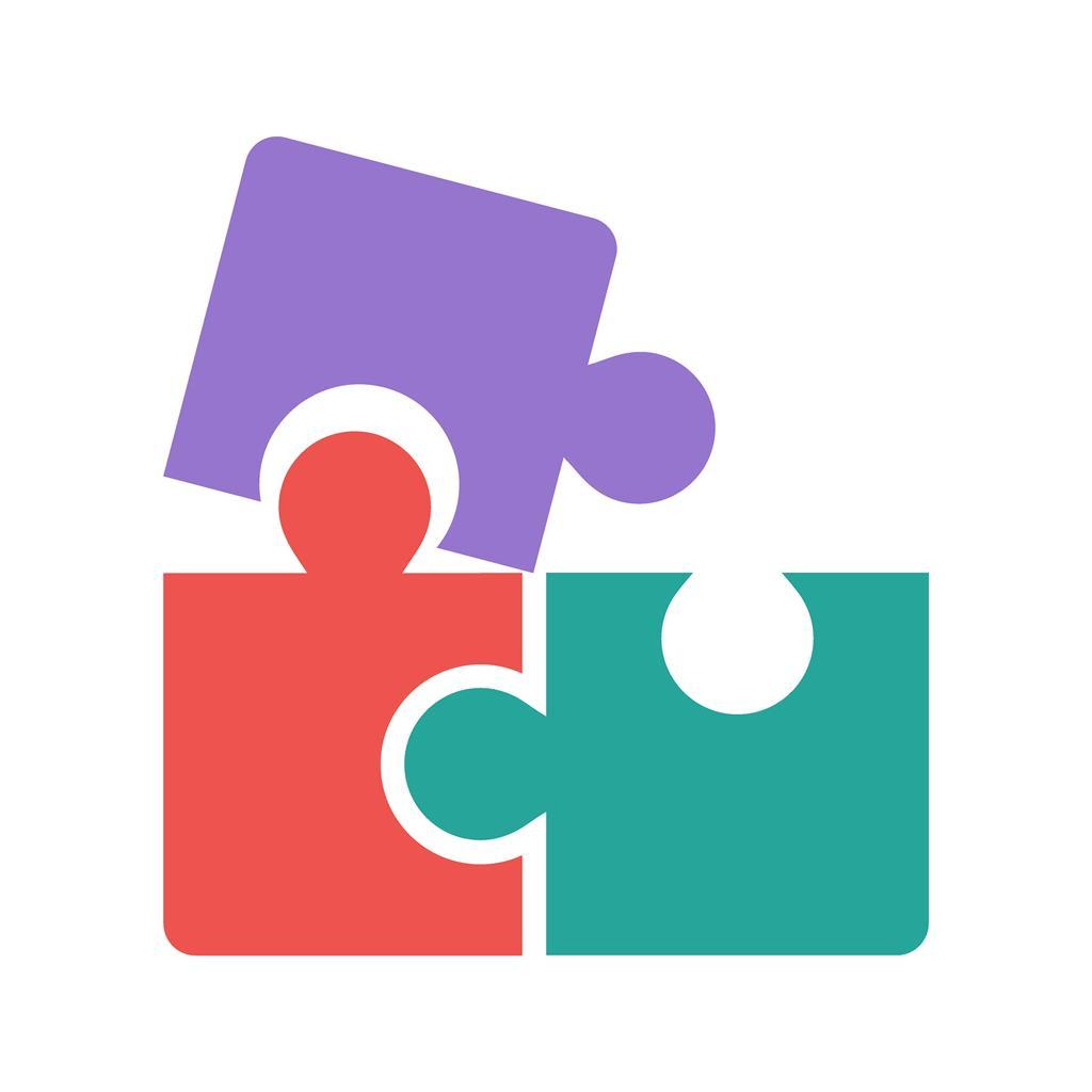 Puzzle Game Flat Multicolor Icon