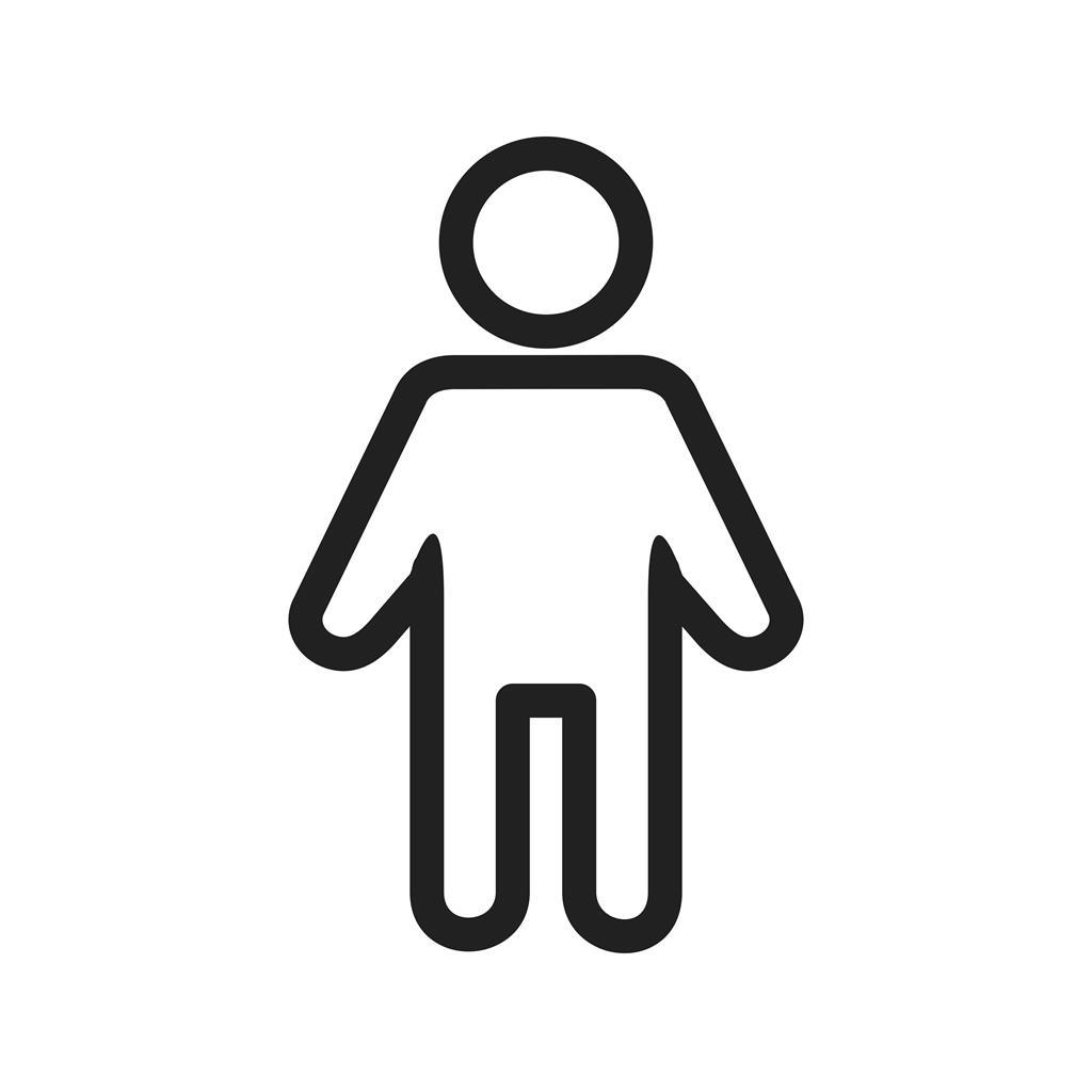 male patient line icon