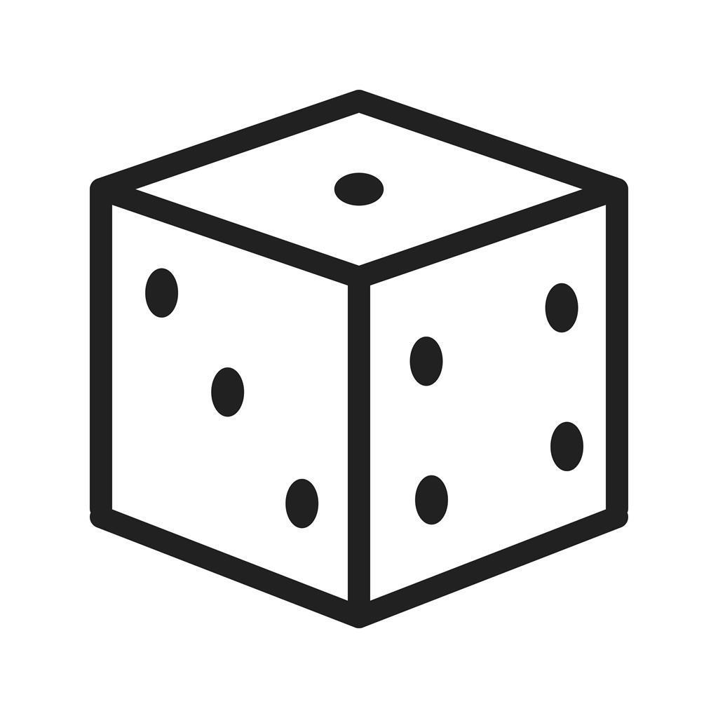 dice line icon