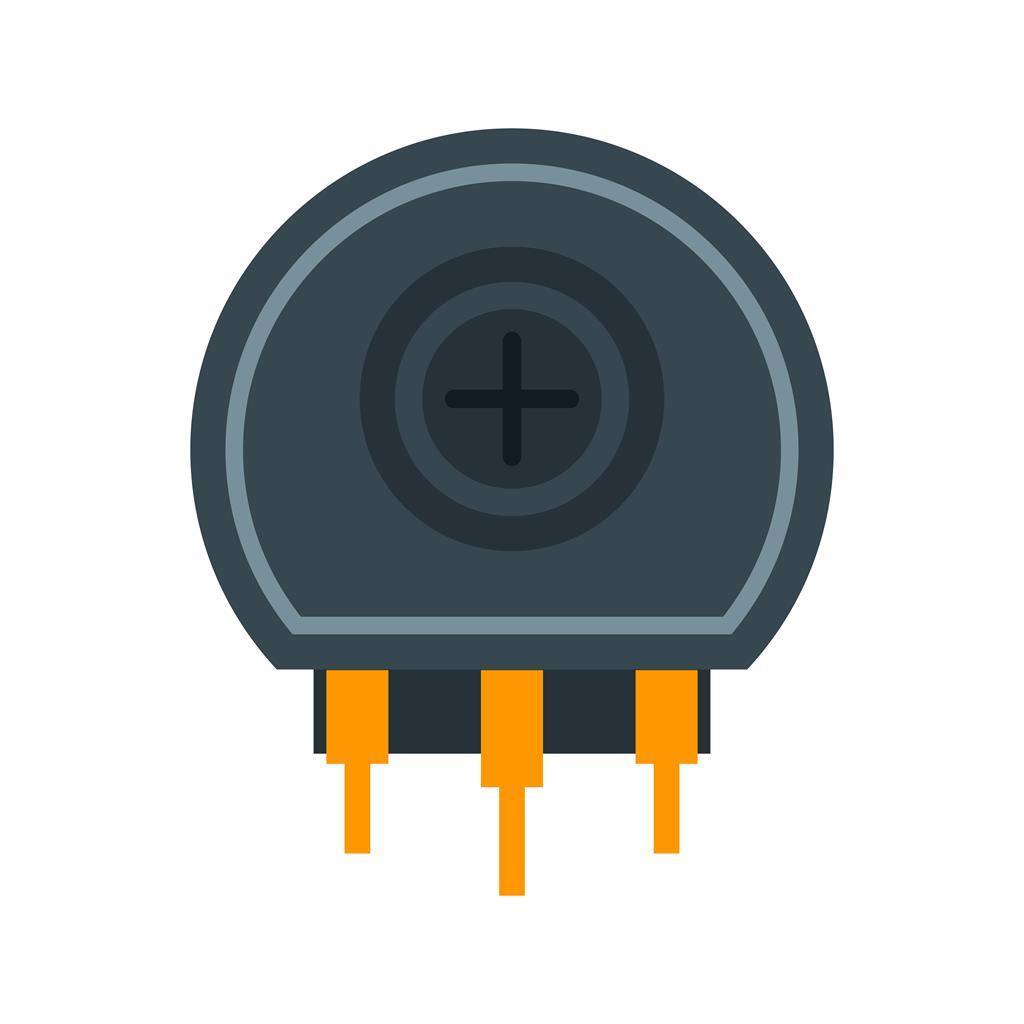 Variable Resistor Flat Multicolor Icon Iconbunny Circuit