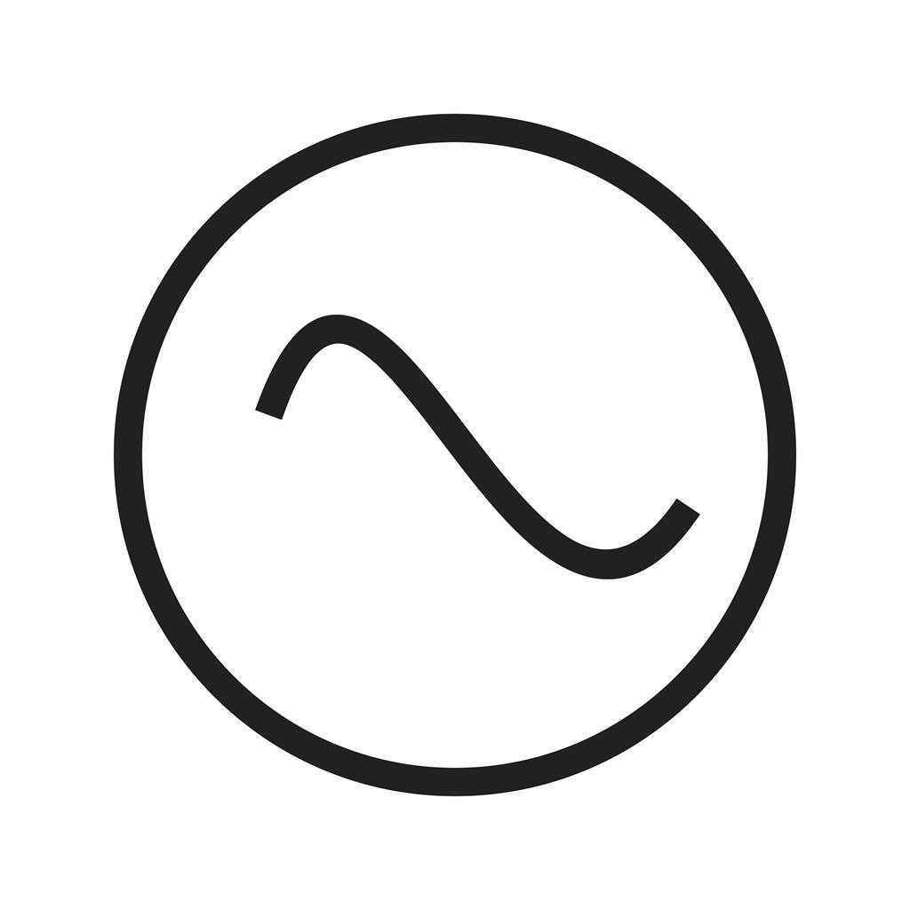 ac voltage source line icon