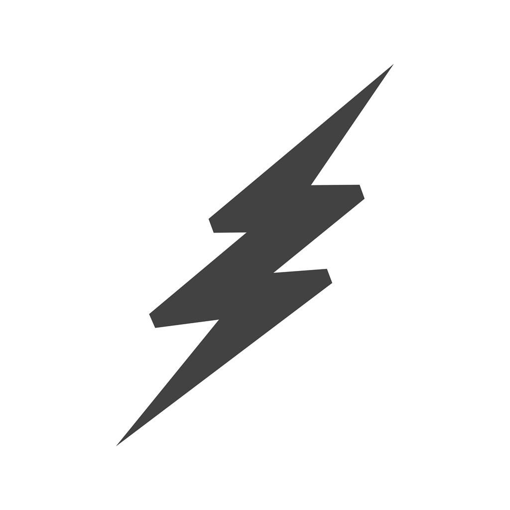Lightning Bolt Blue Black Icon Iconbunny