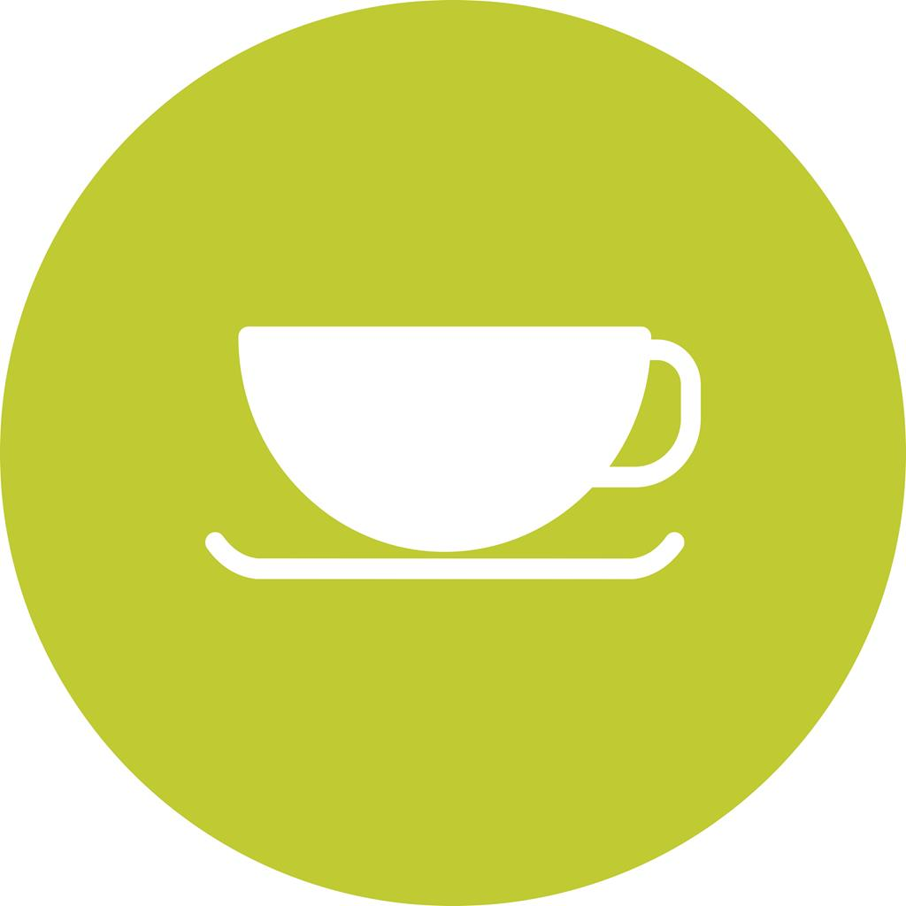 Coffee Cup Flat Round Icon Iconbunny