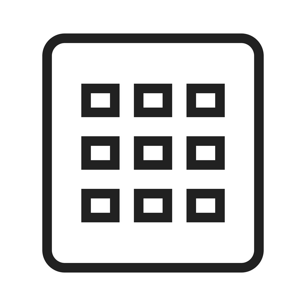 grid view line icon