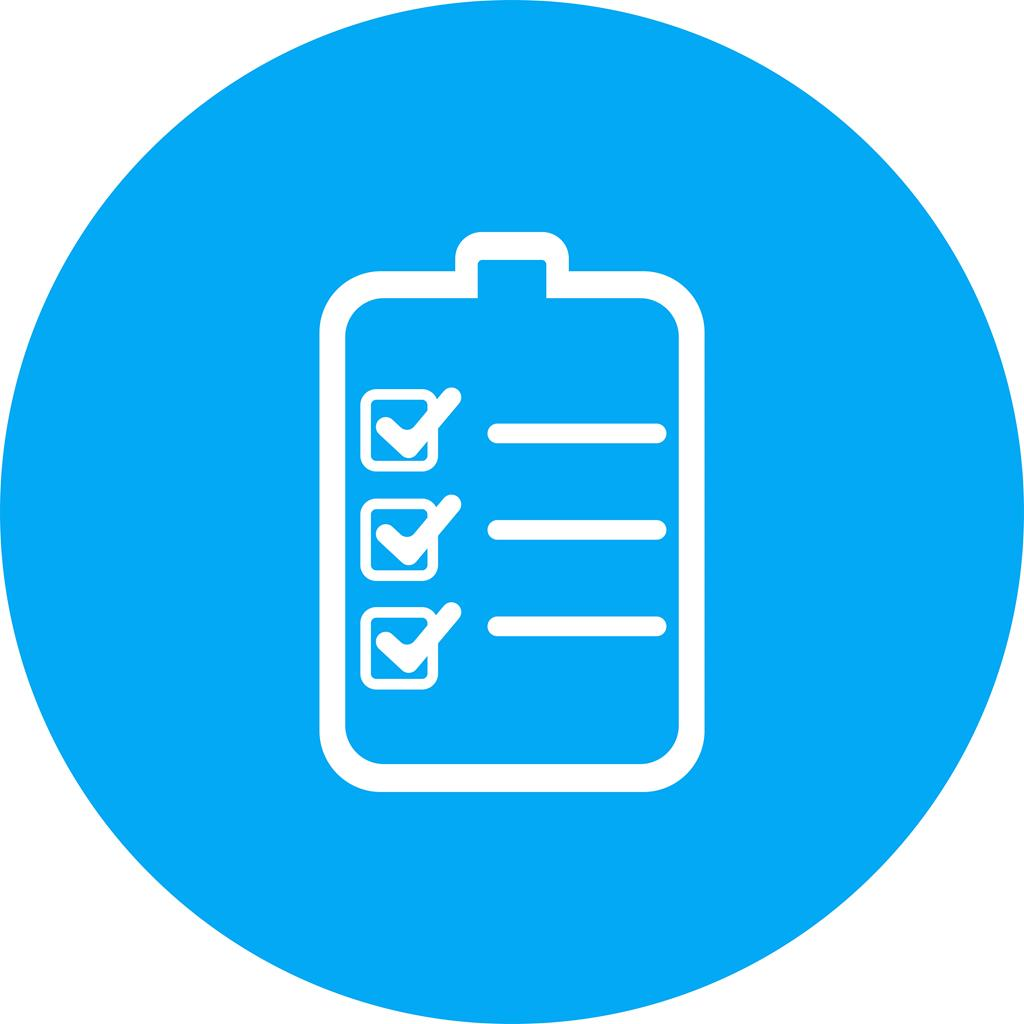 Image result for round checklist icon blue