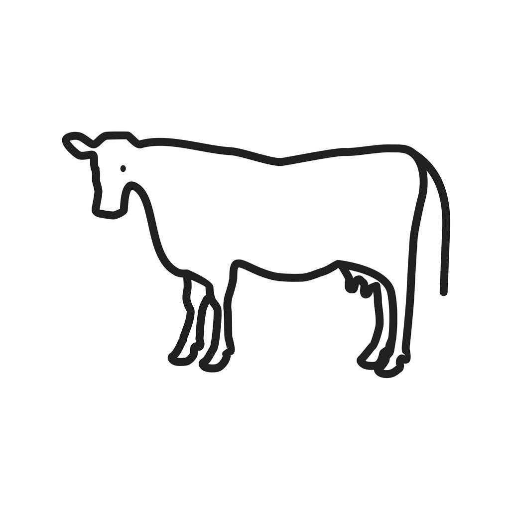 cow line icon