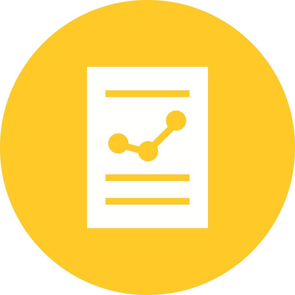 Financial Report Flat Round Icon - IconBunny