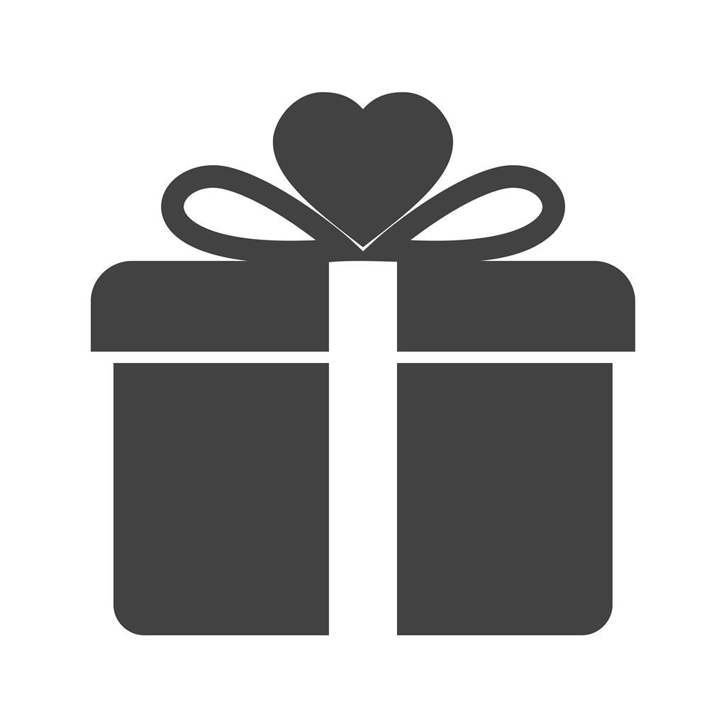 Gift Box Glyph Icon Iconbunny