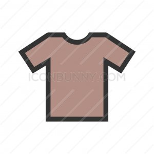 Plain T Shirt Line Filled Icon - IconBunny