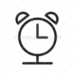 Alarm Clock Line Icon - IconBunny