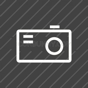 Camera Line Inverted Icon - IconBunny