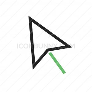 Mouse Line Green Black Icon - IconBunny