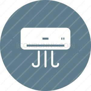 Air Conditioner Flat Round Icon - IconBunny
