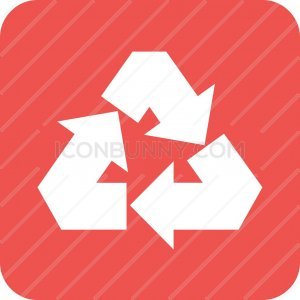 Recycle Flat Round Corner Icon - IconBunny