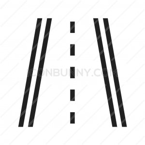 Highway Line Icon - IconBunny