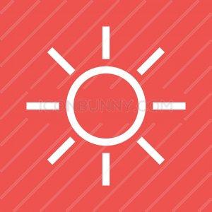 Sunny Line Multicolor B/G Icon - IconBunny