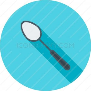 Spoon Flat Shadowed Icon - IconBunny