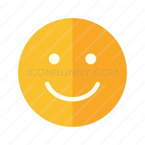Happy Customer Flat Multicolor Icon - IconBunny