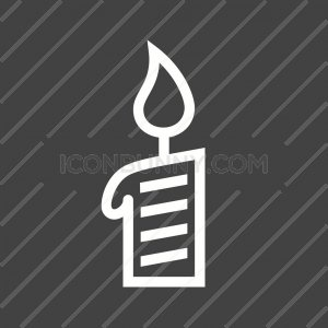 Candle Line Inverted Icon - IconBunny