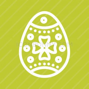 Easter Egg I Line Multicolor B/G Icon - IconBunny