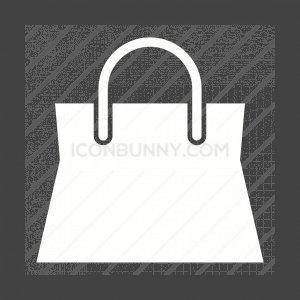 Shopping Bag Flat Round Icon Iconbunny