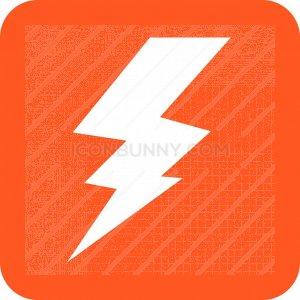 Lightning Glyph Inverted Icon - IconBunny
