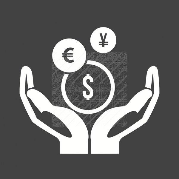Mutual Fund Glyph Inverted Icon Iconbunny