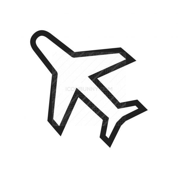 Aero Plane Line Icon Iconbunny