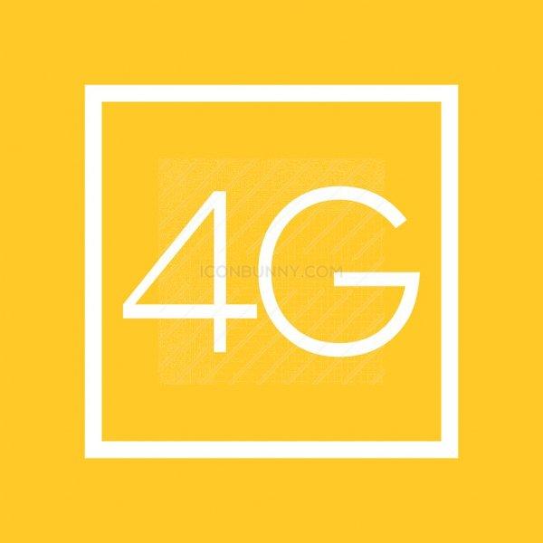 4G Line Multicolor B/G Icon