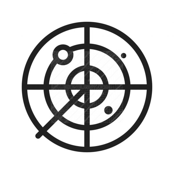 Radar Line Icon Iconbunny