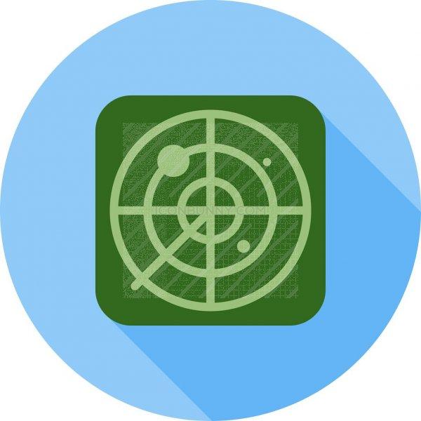 Radar Flat Shadowed Icon Iconbunny