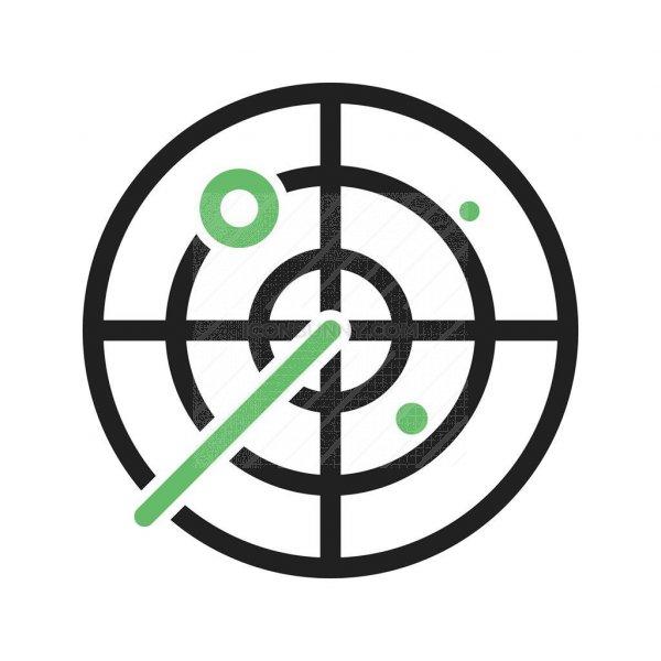 Radar Line Green Black Icon Iconbunny