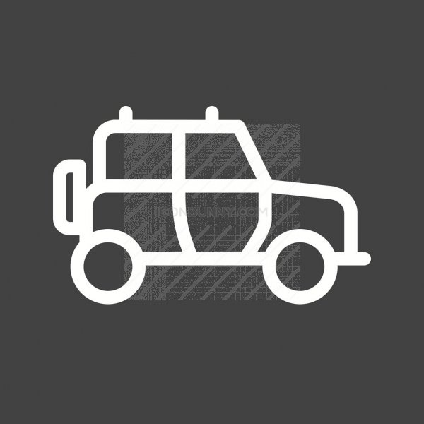 safari jeep line inverted icon iconbunny