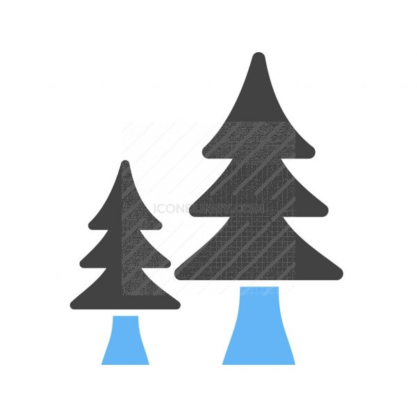 Trees Blue Black Icon