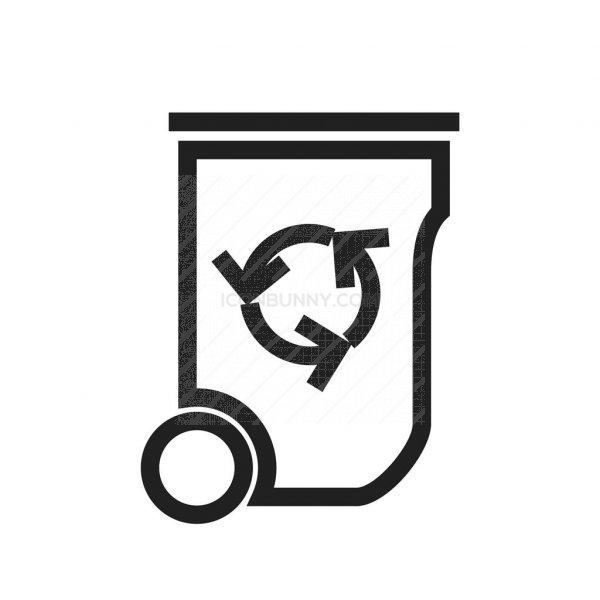 Recycle Bin Line Icon Iconbunny