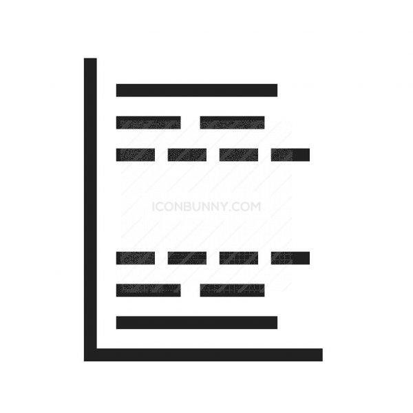 Gantt Chart Line Icon Iconbunny