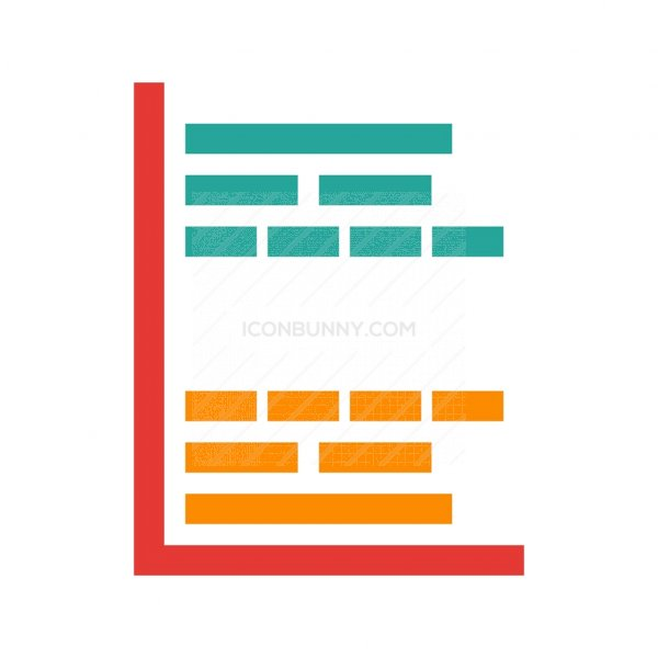 Gantt Chart Flat Multicolor Icon Iconbunny