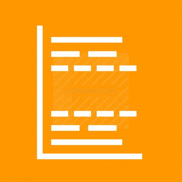 Gantt Chart Line Multicolor Bg Icon Iconbunny