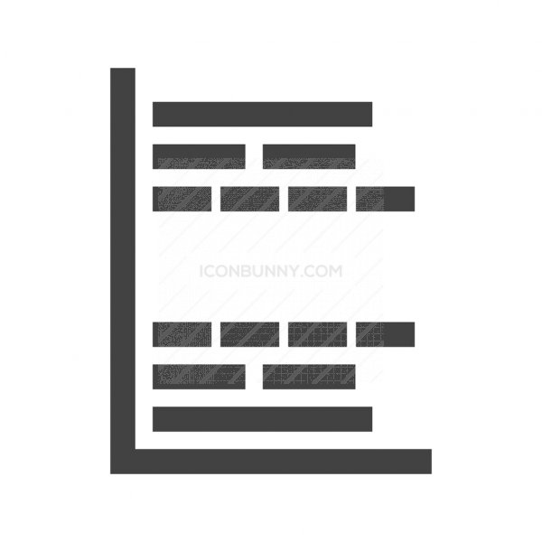 Gantt Chart Glyph Icon Iconbunny