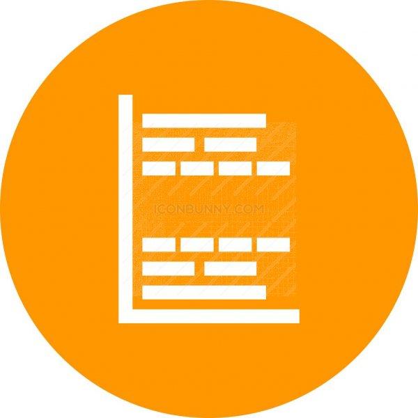 Gantt Chart Flat Round Icon Iconbunny