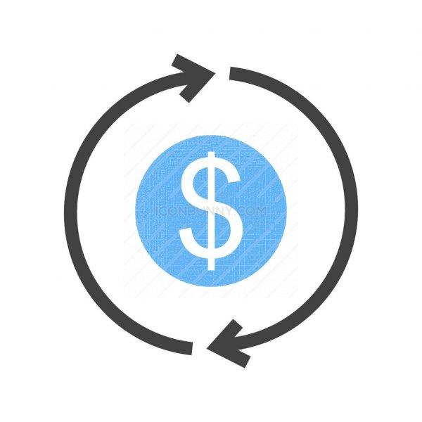 transaction blue black icon iconbunny