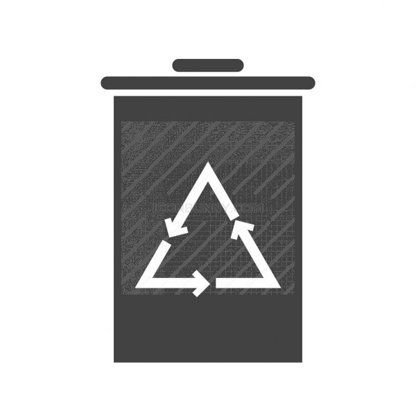 Recycle Bin Glyph Icon Iconbunny