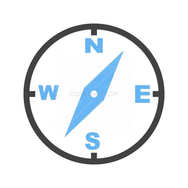 5db17c3dff31 Compass Blue Black Icon - IconBunny