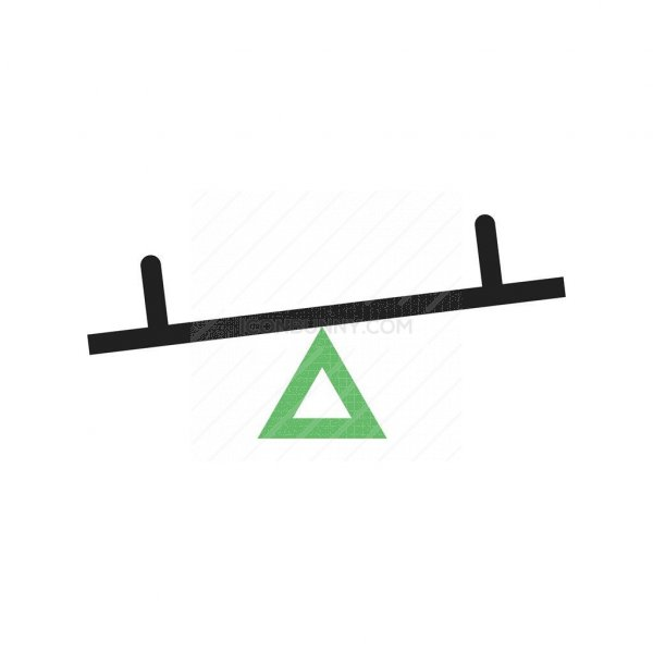 seesaw line green black icon iconbunny