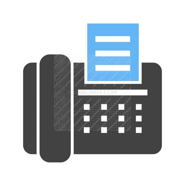 fax machine blue black icon iconbunny fax machine blue black icon