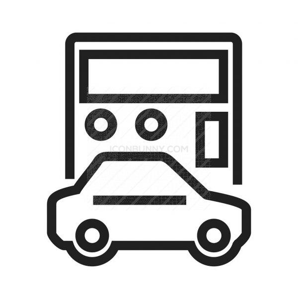 Auto Loan Calculator Line Icon Iconbunny